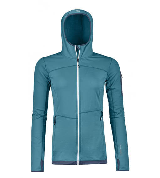 Ortovox Fleece Light Hoodie Dam Aqua