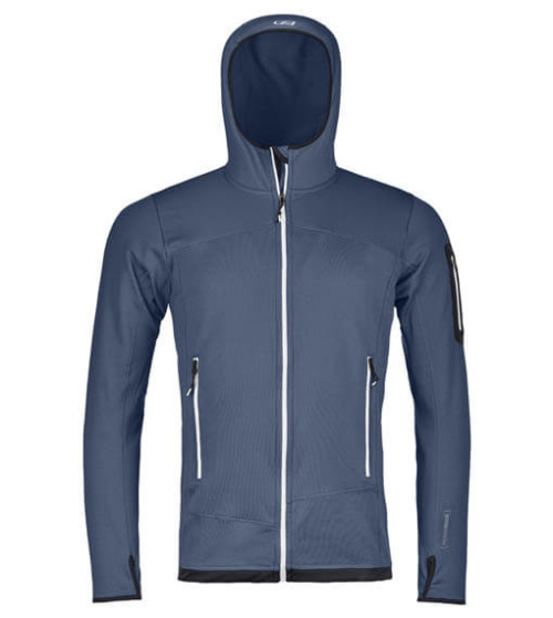 Ortovox Fleece Light Hoody Herr Night Blue
