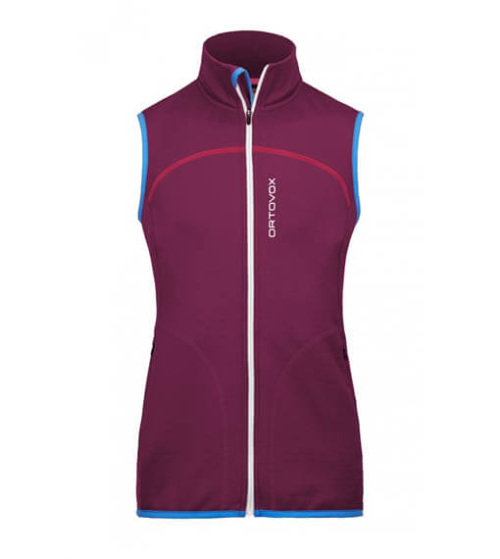 Ortovox Fleece Vest Dam Very Berry