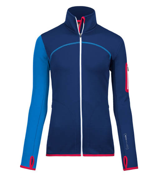 Ortovox Merino Fleece Jacket Dam Strong Blue